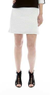 the kelly - White Quilted Mini Skirt