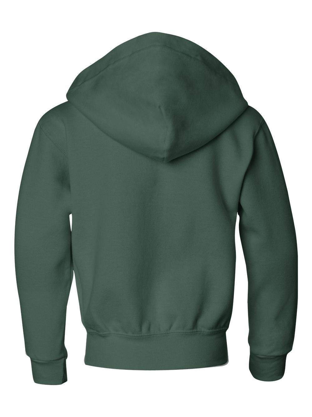 Jerzees 993BR NuBlend Youth Full-Zip Hooded Sweatshirt