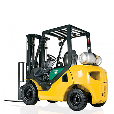 6,000 lb Pneumatic Tire Straight Mast Forklift