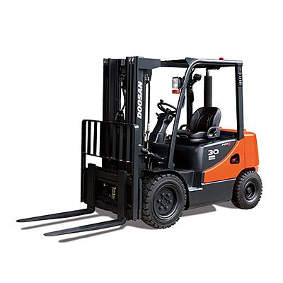 5,000 lb Pneumatic Tire Quad Mast Forklift
