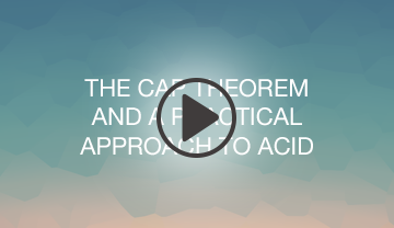 The CAP Theorem and a practical approach to ACID webinar