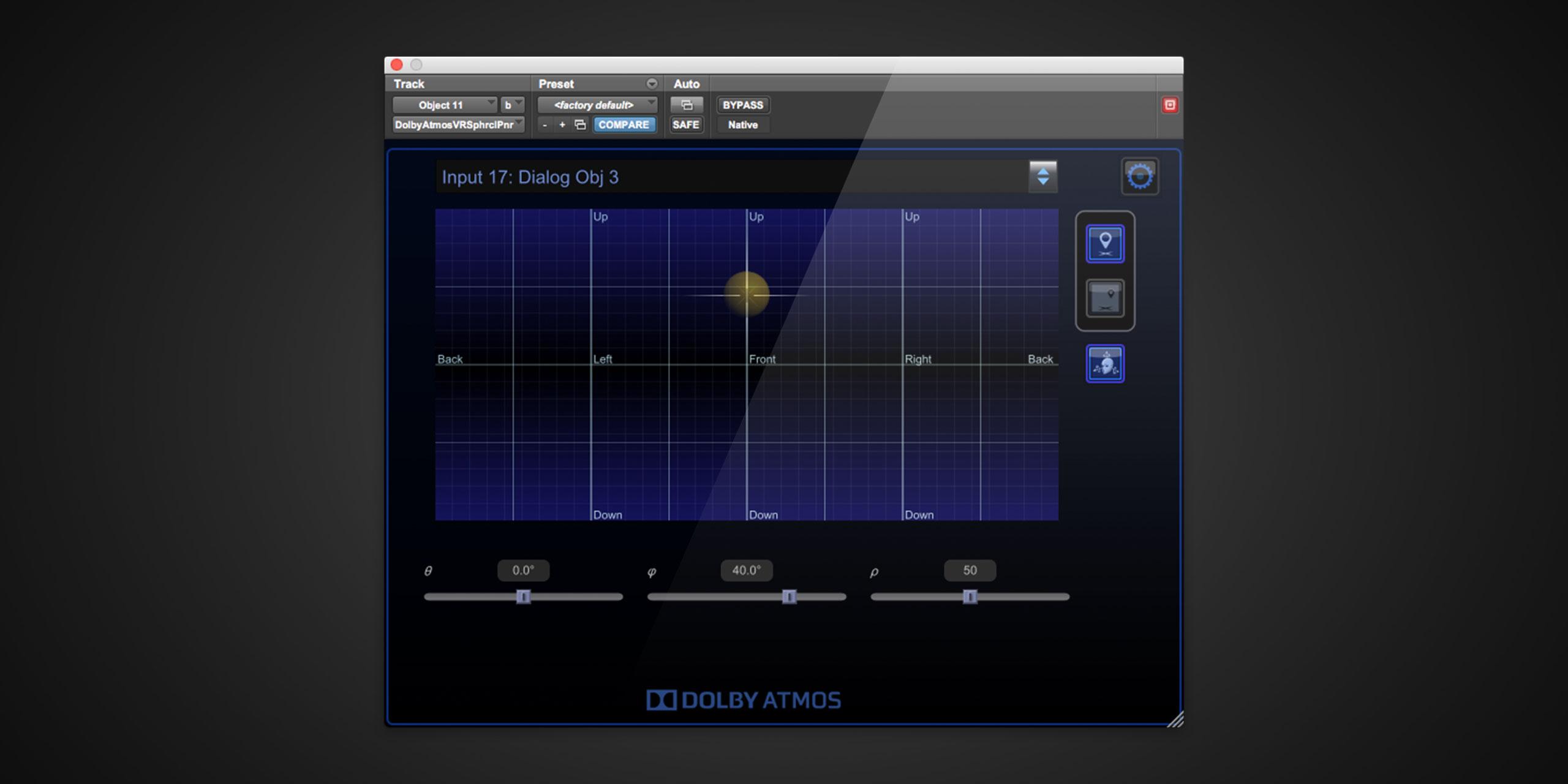 Dolby VR Panne Plugin