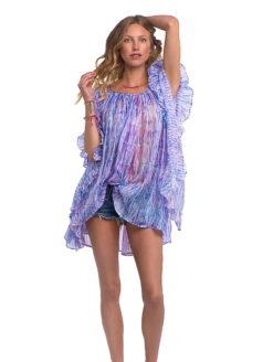 Pastel Ruffle Silk Dress - shop amla