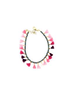 Shashi Jamie Gemstone Bracelet Fuchsia