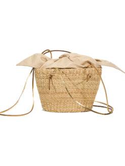 Muun Mini Cole Shine Natural Straw Bag