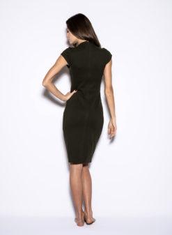blaque-label-cap-sleeve-olive-dress-back