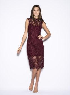 blaque-label-wine-lace-dress-front
