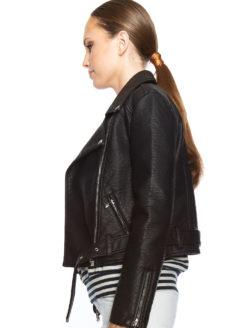 Sistols W Faux-Leather Jacket