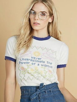 Stoned Immaculate Feminist Ringer Tee-shopamla