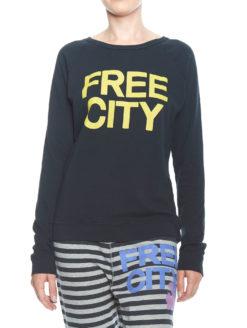 FREECITY NAVY Raglan - Deep Space Yellow Logo-shopamla