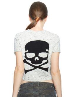 Skull Cashmere Grey Crop Talla Sweater