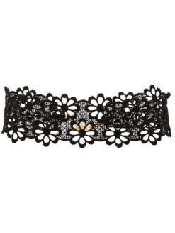 amla lacey daisy choker black-lace fraiser sterling image