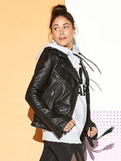 Sistols Faux-Leather Parisian Moto Jacket-shopamla