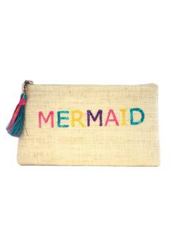 Kayu Mermaid Yellow Woven Clutch