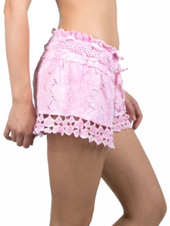 Vintage Havana - Pink Crochet Shorts