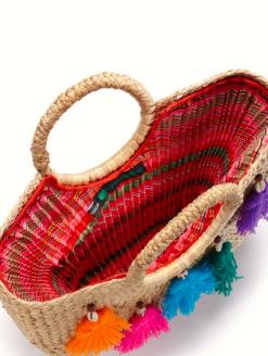 JADEtribe- Mini Tassel Beach Basket -shop amla