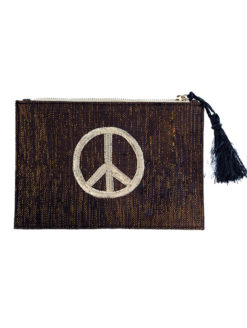 Kayu Peace Pouch - Black - Amanda Mills Los Angeles