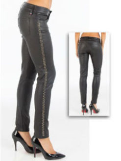 Etienne Marcel Studded Leather Skinny Pants - Black - Amanda Mills LA