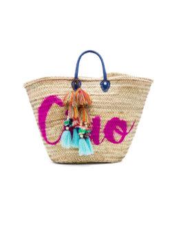Marrakech CIAO Pom Tassel Beach Bag