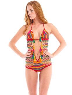 AZTEC Multicolored Crochet Monokini