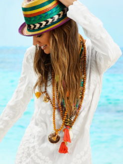 Water Lilly Sheer White Jane Dress-shopamla