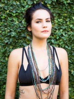 Amanda Pink Sapphire Beaded Necklace