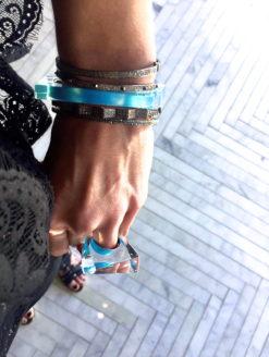 Pentagon Asymmetrical Bangle Bracelet