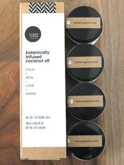 SAMPLE SET 4 jars infused coconut oil hair face body