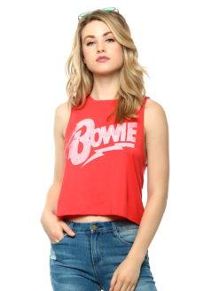 Bowie Lets Dance Crop Rock Women's Tee - daydreamer