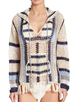 Anna Kosturova Baja Crochet Hoodie -shop amla