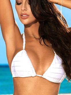 BIKINI BRISEIDA BLANCA STRIPE BIKINI SET - Montoya swimwear