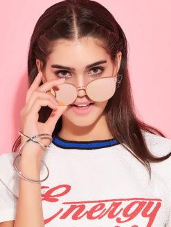 PURE ENERGY Cat Eye Mirror Sunglasses