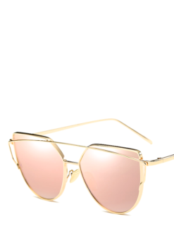 PURE ENERGY Cat Eye Mirror Sunglasses -amla