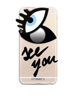 Eye Print Attached Mirror iPhone Case - shop amla
