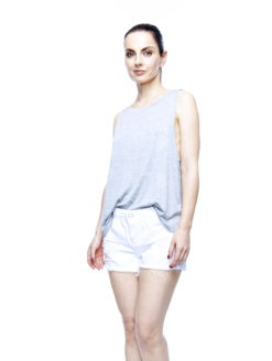 HEATHER GREY LADIES BOYFRIEND TANK TOP - daydreamer clothing