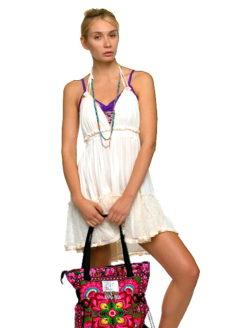 Capri Cream Halter Lace Backless Dress - AMLA