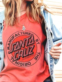 DAYDREAMER CLOTHING RED SANTA CRUZ TANK