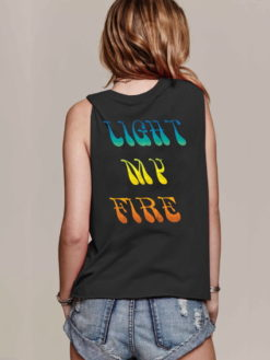 LIGHT MY FIRE DOORS MUSCLE TEE - daydreamer