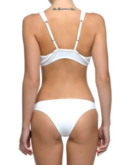 Knotted Front Ribbed Fabric Undie Bikini - shop amla