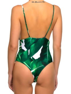 Martinique One Piece Banana Leaf Monokini - shop amla