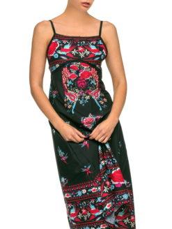 Spanish Gypsy Rose Folk Print Maxi Sundress