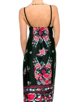 Spanish Gypsy Rose Folk Print Maxi Sundress - am vibe