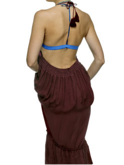 SHOP-AMVIBE-Gypsy Gem Merlot Backless Halter Maxi Dress.9723