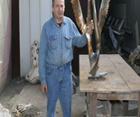 "The bronze sculpture  named ""Love and Unity Y I"" in progress"