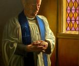 Priest by Window