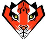 Red Siberian Tiger Karate Black Belt Super Hero Badge