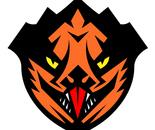 Tiger Dragon Karate Black Belt Super Hero Badge