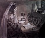 Charlotte Writing Letter
