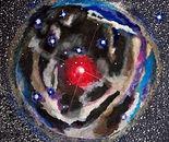 Starry Night   4' x 4'   Mixed Media