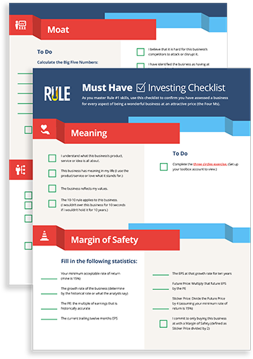Must Have Investing Checklist